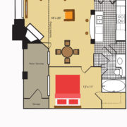 Floor Plan A2 West Brook Apartments