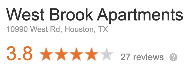 1 Bedroom Apartment in Houston Reviews